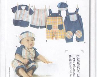 Pattern Burda 9711 Infants Pants Shirt and hat Size 3M-18M