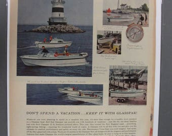109  Glasspar Boats   ad is from April 25, 1960  Life