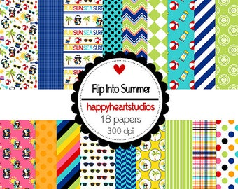 Digital Scrapbooking FlipIntoSummer - InstantDownload