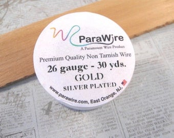 Silver Plated Gold - 26 Gauge Wire from ParaWire - 30 yard Spool