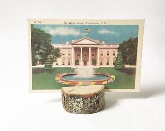 Linen Postcard 1940s Washington DC Souvenir Collectible Postcard Unused Postcard The White House postcard