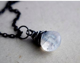 Summer Sale Moonstone Necklace, Moonstone Jewelry, Moonstone Pendant, Sterling Silver, Rainbow Moonstone,