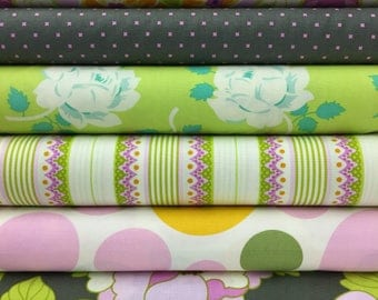 Free Spirit Heather Bailey Lottie Da/ Nicey Jane Fat Quarter Set - 6 Fat Quarters