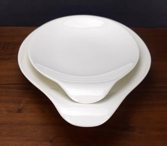 Like this item? & Hallcraft Eva Zeisel Lugged Serving Platters Set of 2 White