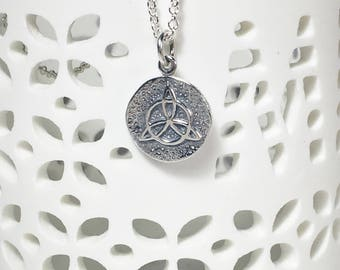 Silver Protective Amulet Charm Necklace