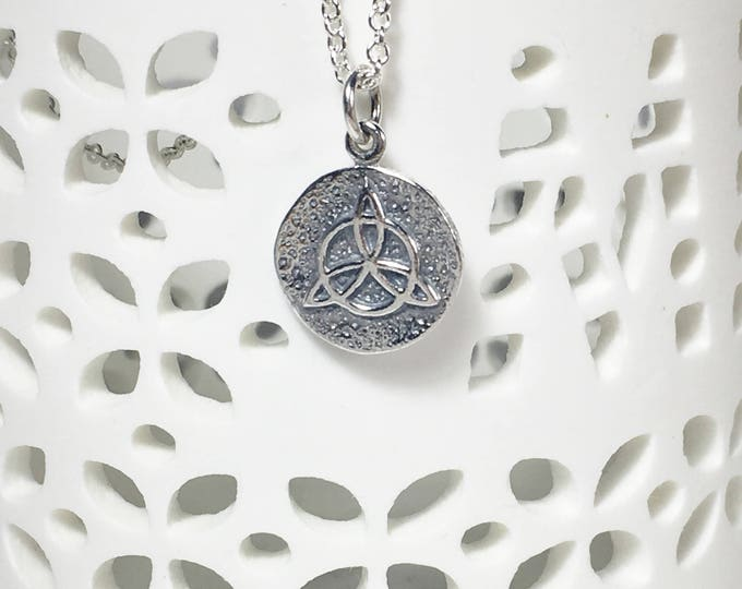 Featured listing image: Silver Protective Amulet Charm Necklace