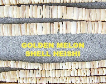 BEADS, SHELL, GOLDEN Melon Shell, Heishi, Rondelle, 3mm, 5mm,Sale, Tan, Beige, Creamy,  24 inch, Disc, Strand, Beach, Tribal, Ethnic,