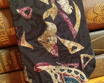 Don Loper of Beverly Hills - Vintage Necktie - abstract design - Italian silk - FREE SHIPPING