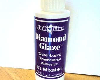 Diamond Glaze, 2 fl. oz., Water Based Dimensional Adhesive, New, Craft Supplies, Jewelry Supplies