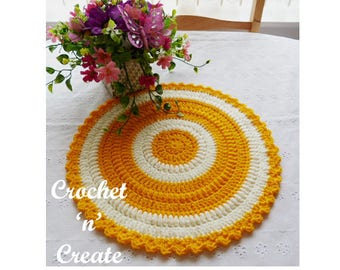 Round Table Mat Crochet Pattern (DOWNLOAD) CNC52