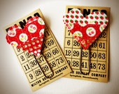 Set of 2 Large Scrappy Heart Planner Clips/Bookmarks