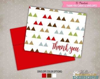 Mod Triangle Thank You Cards, Custom Thank You Notes with Envelopes #S134