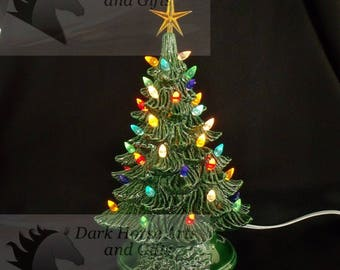 Vintage Style Ceramic Christmas Tree 16 Inches