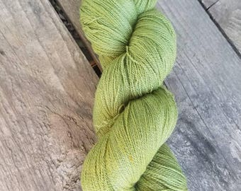 RESERVED for Lindsay - Matcha Mochi - 1000 yards -  80/20 merino/silk lace weight
