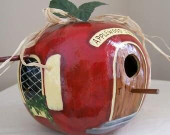 Apple Birdhouse gourd Hand PaintedTeacher's Pet
