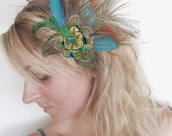 Feather Fascinator,Hair Clip