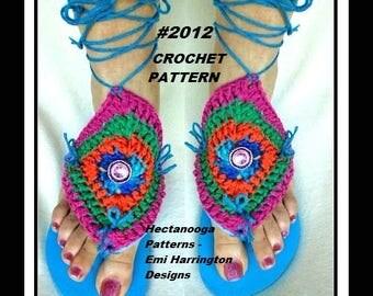 FLIP flop covers, CROCHET PATTERN- #2012