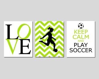 Girls soccer decor   Etsy