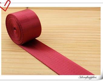 5 yards of 1.5 inch (38mm) Heavy weight Nylon webbing Red ZA37