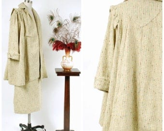 Vintage 1950s Suit - Autumn 2017 Lookbook - The Spencer Winter Suit - Homemade 50s Tweed Swing Coat with Matching Skirt