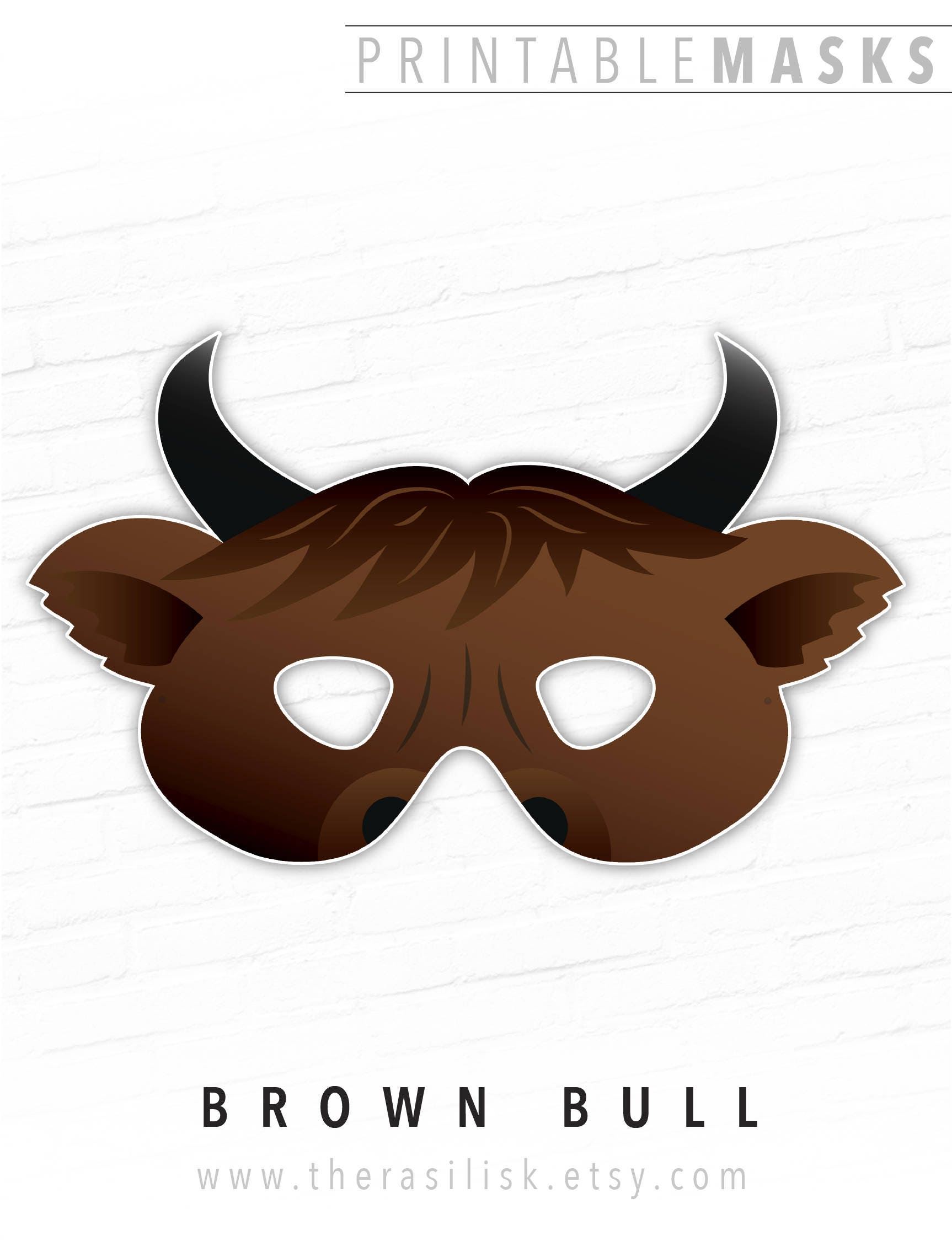 This is a photo of Bright Printable Cow Mask