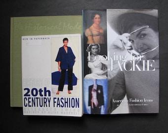SALE 3 Fashion Books, 20th century Fashion Topics