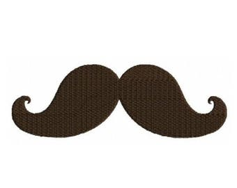 SALE 65% OFF Mustache Moustache Machine Embroidery Designs 4x4 & 5x7 Instant Download Sale