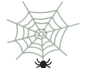 SALE 65% OFF Spider on Web Halloween Machine Embroidery Designs 4x4 & 5x7 Instant Download Sale