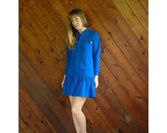 20% off SUMMER SALE. . . ESPRIT Jersey Knit l/s Mini Dress - Vintage 90s - Xs/S