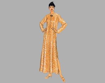 1998 Robe / Pajama pattern McCall's 9679 Size Large, Bust 40 Mandarin collar Cocktail robe Cocktail pajamas Hip length Jacket Frog closure