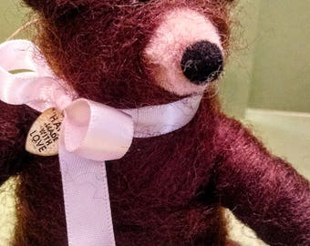 """Bear in Mind Felted 5"""" Ornament - NEW for 2018"""