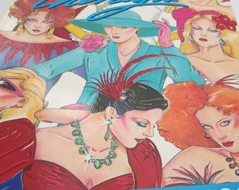 vintage cherney fashion coloring book
