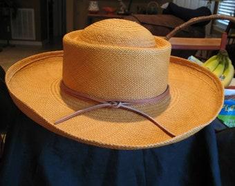 Vintage Woman's Ralph Lauren Straw Sun Hat Excellent