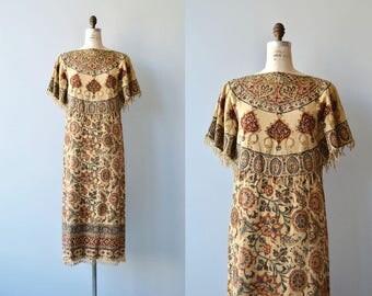 Shahbanu block print dress   vintage 1970s indian cotton dress   70s block print caftan dress