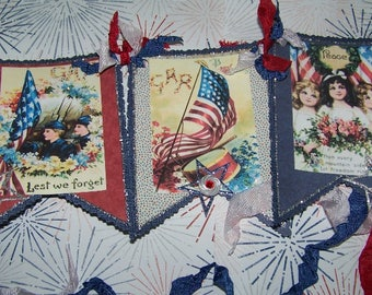 Patriotic Decoration Patriotic Banner Garland Vintage Style