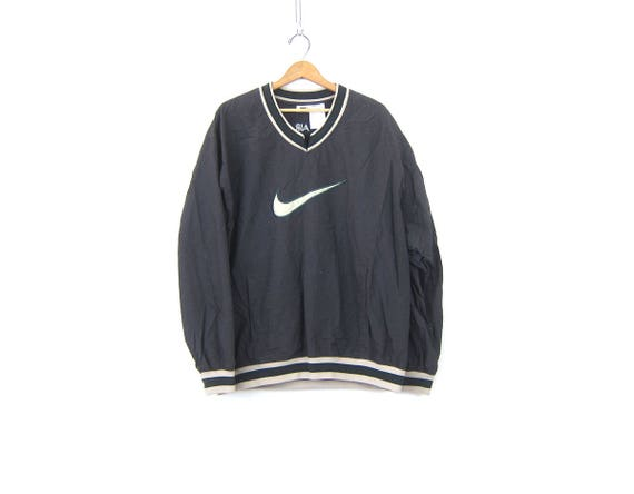 NIKE AIR pullover windbreaker jacket Sporty Gray slouchy workout shirt athletic wear sports sporty track Nylon pullover Size XL