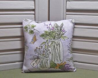 "Lavender, lavender sachet, mason jar, scented pillow, gardens, lingerie drawer sachet, 4"" by 4"" size, 100% dried lavender for a lovely scent"