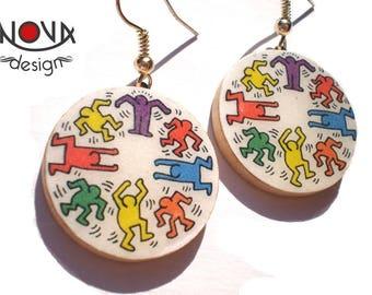 Keith Haring table - Earrings