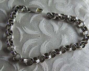 "Sterling CHAIN Bracelet  9 1/2"""