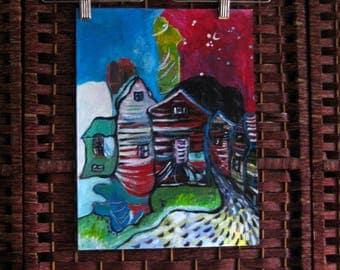 Bonavista painting abstract acrylic landscape by sjkim