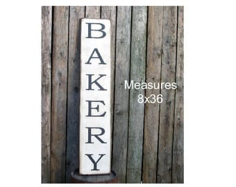 Large BAKERY vertical rustic farmhouse sign