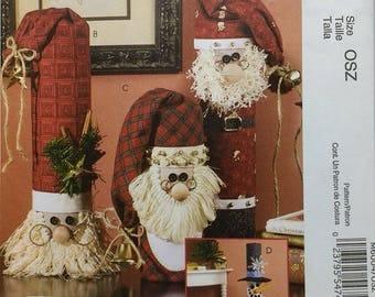 "Snowman Greeter and Santa's Decoration Mccalls Crafts M6004  Pattern 9"" inch and 37"" inch Snowman Greeter 13"" Santa and 14"" Santa"