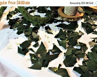Save25% Magnolia confetti-Table confetti-Preserved magnolia leaf pieces-5 cups-Wedding confetti-Flower girl leaves-Potpourri