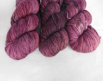 Ruby Wine- Hand dyed Sock Yarn