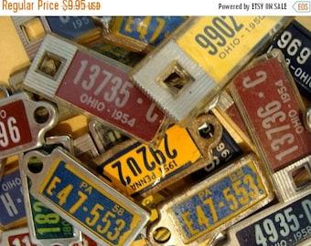 ONSALE 3 Vintage License plate keychains
