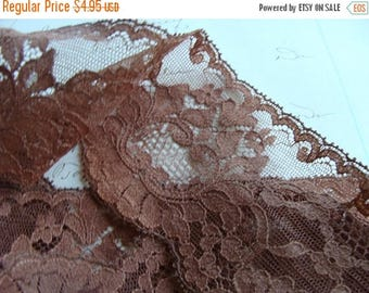 ONSALE 2 Yards Gorgeous Brown Lace