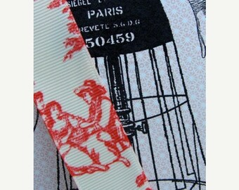 ONSALE Red Toile French Ribbon 2 Yards