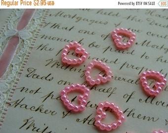 ONSALE Dozen Scrumptious Pink Fauz Pearl Hearts for Valentine Embellishments