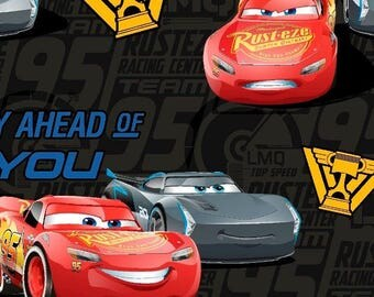 Disney Cars 3 Friends from the Start 59-inch Fleece Fabric by the yard
