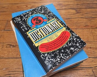 Kids Dictionary 1971 Vintage Book Paperback Primary Reference Children's Library Ages 8-10